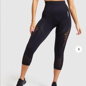 New Gymshark black Energy Seamless cropped legging